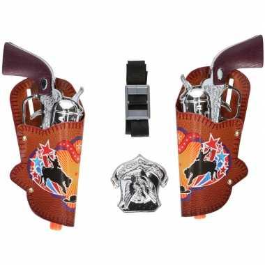 Originele cowboy pistoolset holsters carnavalskleding