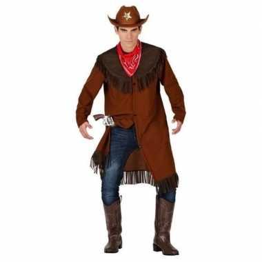 Originele cowboy/western jas verkleed carnavalskleding heren
