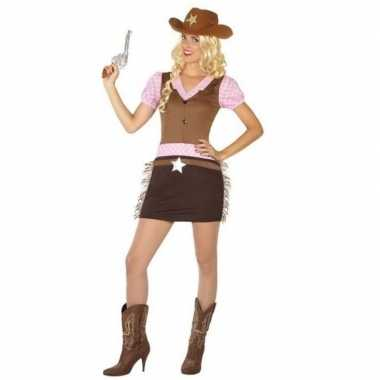 Originele cowgirl/western verkleed carnavalskleding dames
