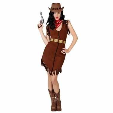 Originele cowgirl/western verkleed carnavalskleding franjes dames