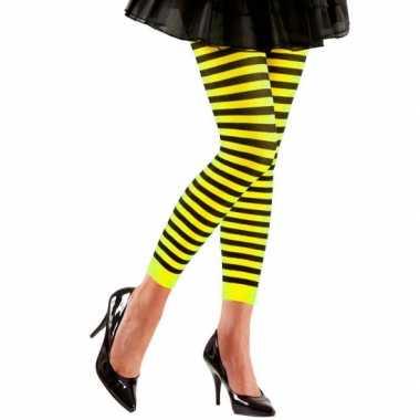 Originele dames legging geel zwart carnavalskleding