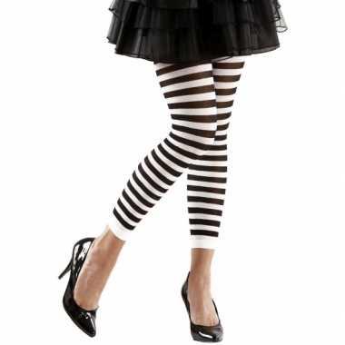 Originele dames legging wit zwart carnavalskleding