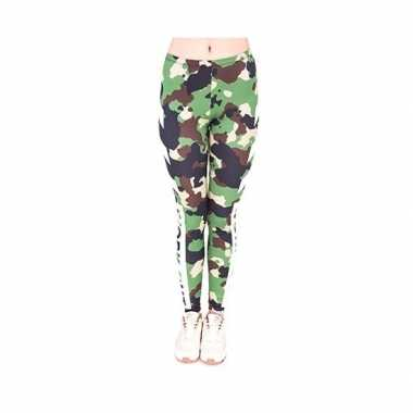 Originele dames party legging camouflage print carnavalskleding