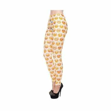 Originele dames party legging emoticons print carnavalskleding