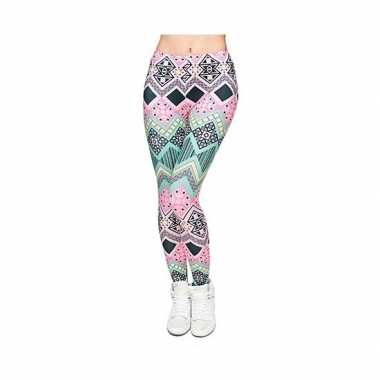 Originele dames party legging modieuze inca print carnavalskleding