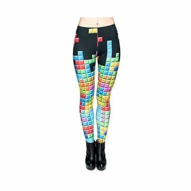 Originele dames party legging tetris print carnavalskleding