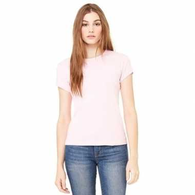 Originele dames skinny shirts hanna roze carnavalskleding