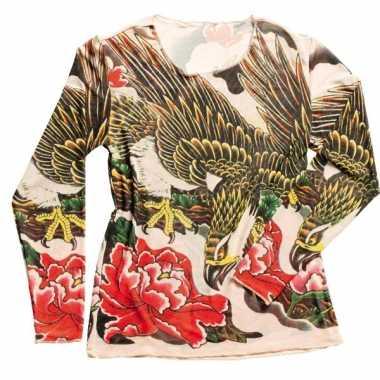 Originele dames tattoeage t shirt carnavalskleding