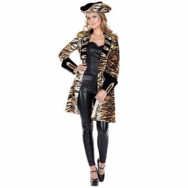 Originele dames tijgerprint carnavalskleding jas
