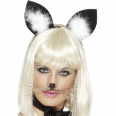 Originele diadeem katten/poezen oren dames carnavalskleding