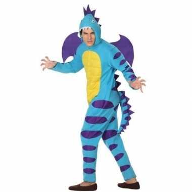 Originele dieren carnavalskleding blauwe draak verkleedcarnavalskledi