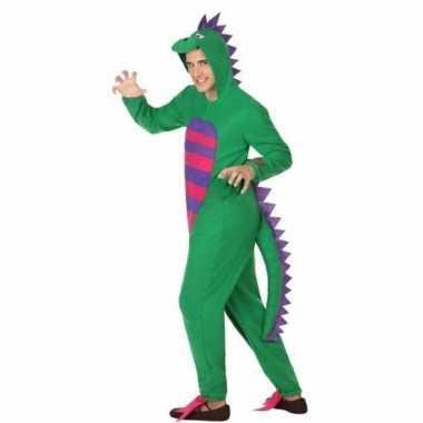 Originele dieren carnavalskleding groene draak verkleedcarnavalskledi