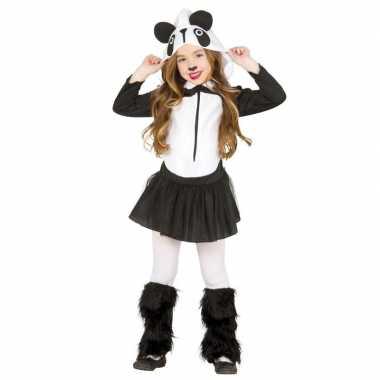 Originele dieren carnavalskleding panda verkleedcarnavalskleding meis