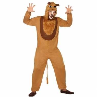Originele dieren carnavalskleding verkleed carnavalskleding leeuw vol