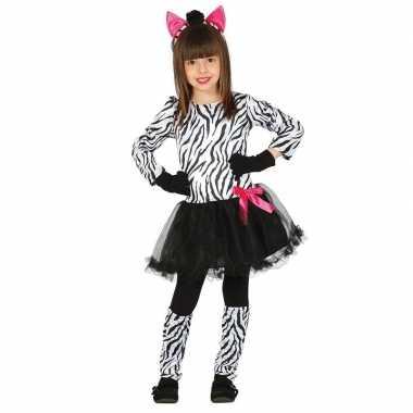 Originele dieren carnavalskleding zebra verkleedcarnavalskleding meis
