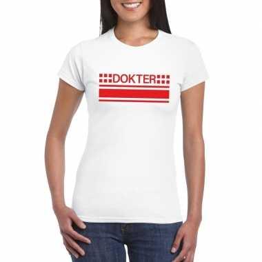 Originele dokter logo t shirt wit dames carnavalskleding