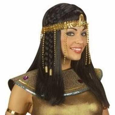 Originele egyptische hoofdband gouden kralen carnavalskleding