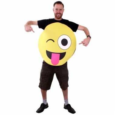 Originele emoticon carnavalskleding knipoog volwassenen