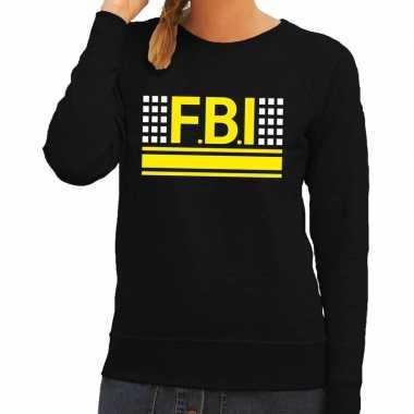 Originele fbi logo sweater zwart dames carnavalskleding