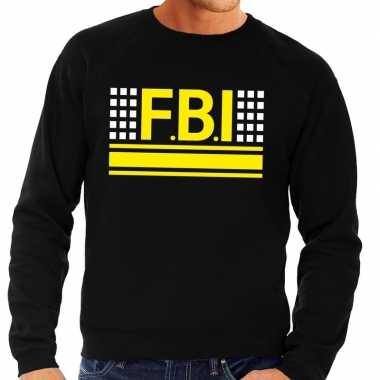 Originele fbi logo sweater zwart heren carnavalskleding