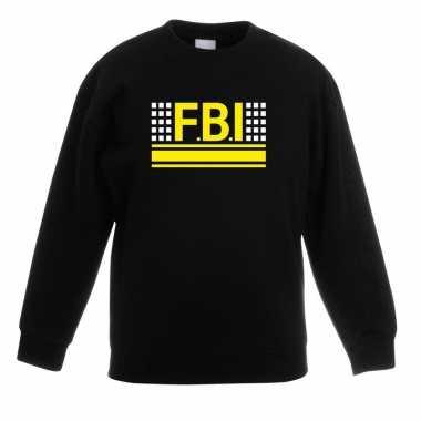 Originele fbi logo sweater zwart kinderen carnavalskleding