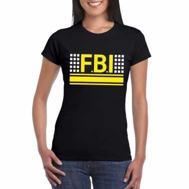 Originele fbi logo t shirt zwart dames carnavalskleding