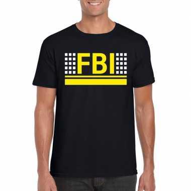 Originele fbi logo t shirt zwart heren carnavalskleding