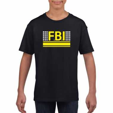 Originele fbi logo t shirt zwart kinderen carnavalskleding