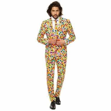 Originele feest carnavalskleding confetti heren