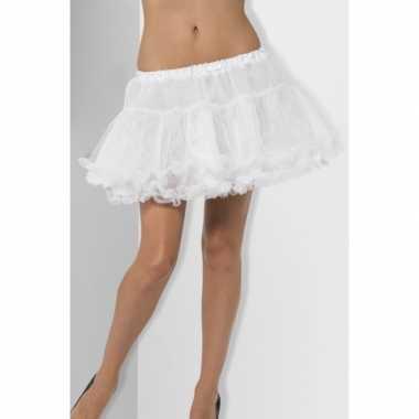 Originele feest petticoat wit satijnen band dames carnavalskleding