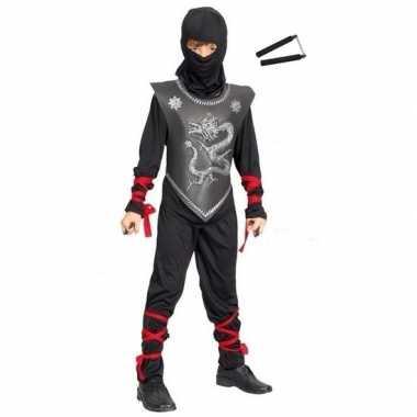 Originele feestcarnavalskleding ninja vechtstokjes maat s kinderen