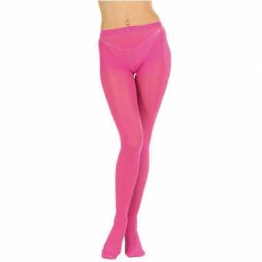 Originele fel roze dames panty's carnavalskleding