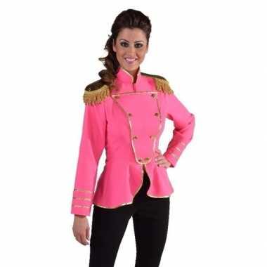 Originele fel roze verkleedjas dames carnavalskleding 10109375