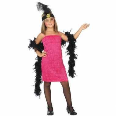 Originele flapper franje verkleed carnavalskleding/carnavalskleding r