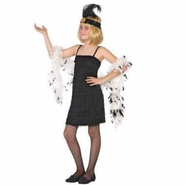Originele flapper franje verkleed carnavalskleding/carnavalskleding z