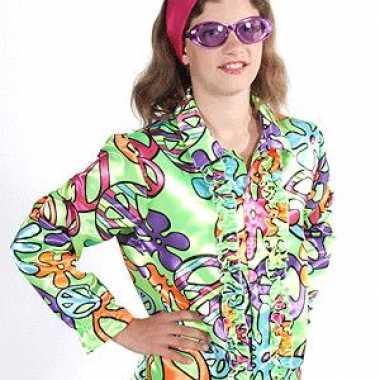 Originele flower power blouse kids peace carnavalskleding