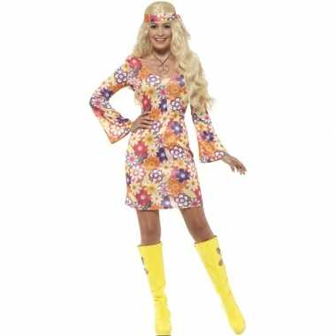 Originele flower power hippie dames sixties carnavalskleding