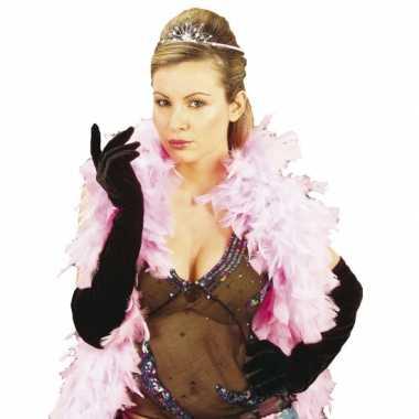 Originele gala handschoenen fluweel carnavalskleding