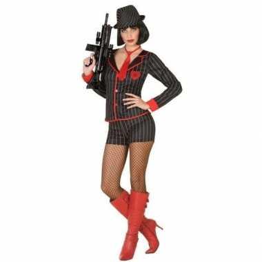 Originele gangster verkleed carnavalskleding dames