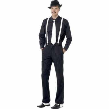 Originele gangster verkleedset heren carnavalskleding