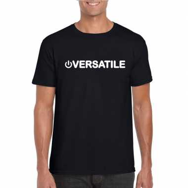 Originele gay shirt power versatile zwart heren carnavalskleding