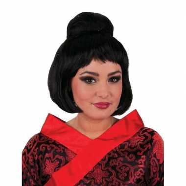 Originele  Geisha pruik knot carnavalskleding