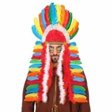 Originele gekleurde indianen tooi heren carnavalskleding