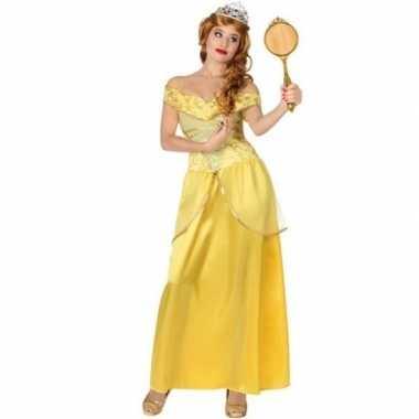 Originele gele prinsessen verkleed carnavalskleding dames