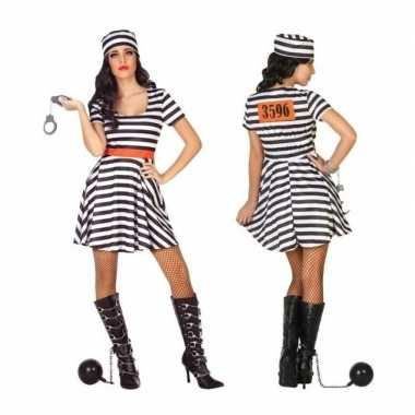 Originele gevangene/boef bonnie verkleed carnavalskleding/carnavalskl
