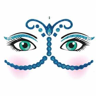 Originele gezicht stickers nacht vel carnavalskleding