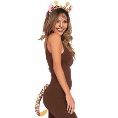 Originele giraffe verkleedaccessoires set carnavalskleding