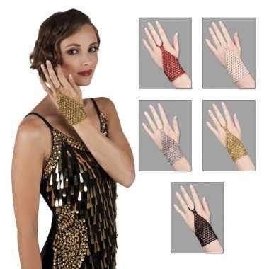 Originele glitter sieraad kralen handsieraad carnavalskleding