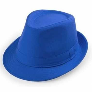 Originele goedkope blauwe verkleed hoedjes volwassenen carnavalskledi