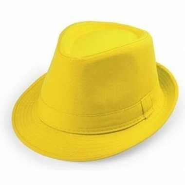 Originele goedkope gele verkleed hoedjes volwassenen carnavalskleding